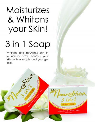 3 in 1 Glutathione Whitening Soap